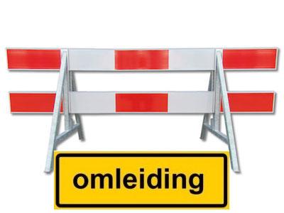 Afsluitingen van de N59 en parallelweg in weekend 15 t/m 18 juni